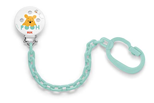 NUK Disney Winnie the Pooh Soother Pacifier Chain Leash 0-36 Months White (7742-1)