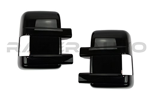 Razer Auto Mirror Cover With Turn Signal (Glossy Black ABS plastic material) for 08-15 Ford Super duty F250/F350/F450/F550
