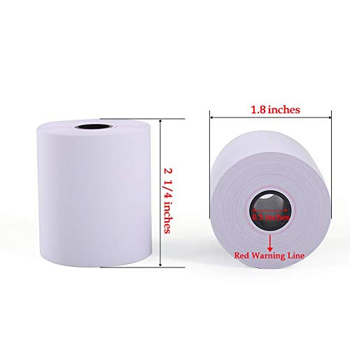 SJPACK Thermal Paper 2 1/4'' X 85' Pos Receipt Paper, 200 Rolls Cash Register Roll (200 Rolls / 4 Cartons) by SJPACK (Image #1)