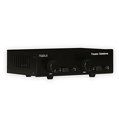 (Theater Solutions TS2DLS Speaker Selector Box for 4 Speakers with Dual Source and Volume Controls)