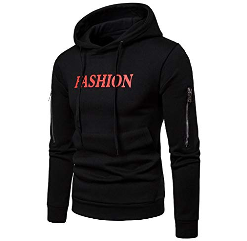 Singleluci Men's Autumn Winter Long Sleeve Pullover Slim Casual Zipper Tops Blouse ()