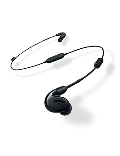 Shure SE846-K+BT1 Wireless Sound Isolating Earphones with Bluetooth Enabled Communication Cable, - In Reference Ear Headphones Audio