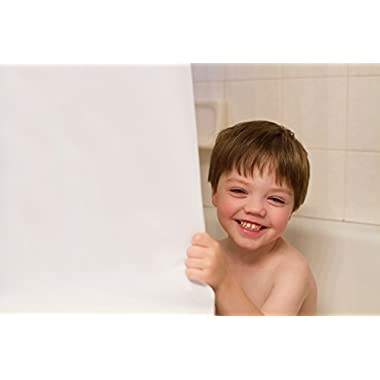 DeLaine's Shower Curtain Liner, Non-Toxic, Odor Free, Heavy Duty Peva, Machine Wash and Dry