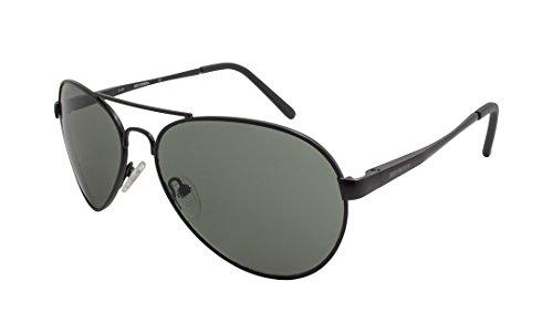 Harley-Davidson Men's Metal Aviator Sunglasses, Satin Black Frame & Smoke - Sunglasses Davidson Harley Women's