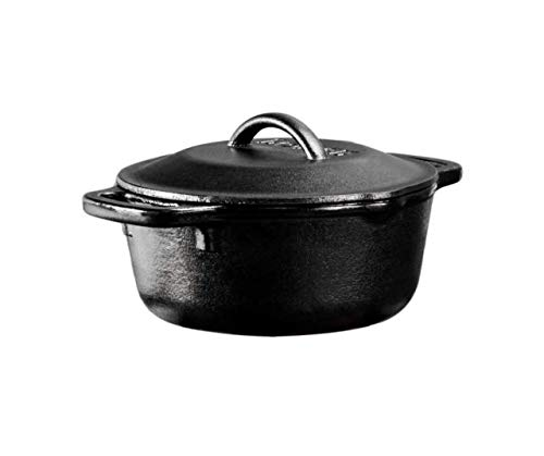 1 quart cast iron pot lodge - 1