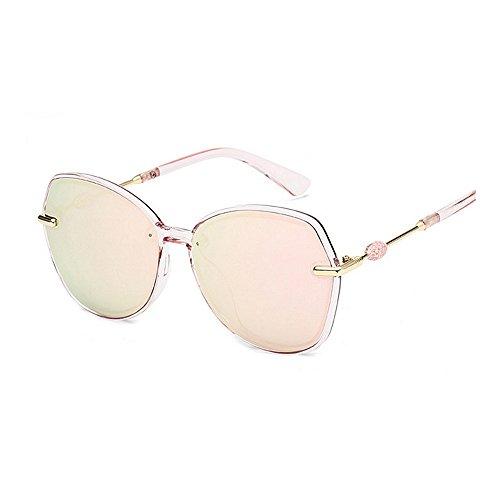 para gafas de de de la sol mujeres de la y Retro de polarizadas de retro las sol de los personalidad unisex las Gafas hombres marco Rosado conducción ULTRAVIOLETA Gafas del Protección sol de sol las de gafas BFq8v