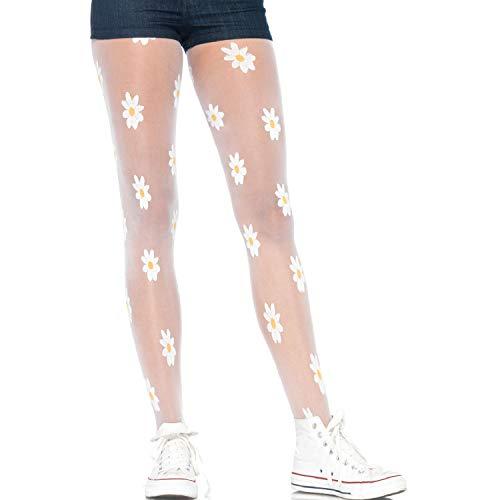 Leg Avenue Womens Woven Daisy Sheer Tights (Womens Tattoo Tights)