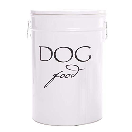 Harry Barker Dog Food Storage - White - 40 Lb ()