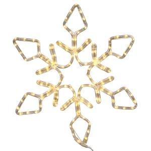 Vickerman 72'' Pure White LED Lighted Rope Light Snowflake Commercial Christmas Decoration by Vickerman