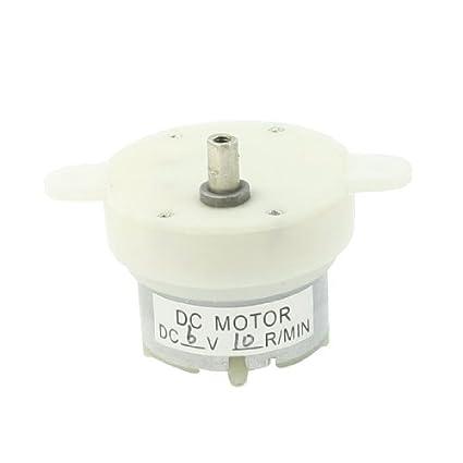 eDealMax DC 6V 10 rpm Velocidad de rotación Terminales 2 Pin plástico superior Motorreductor