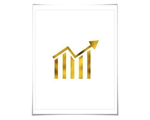 Amazon Stock Ticker Gold Foil Art Print 7 Foil Colours3 Sizes