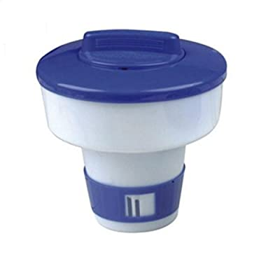 "Northlight 7"" Classic Blue and White Floating Swimming Pool Chlorine Dispenser"