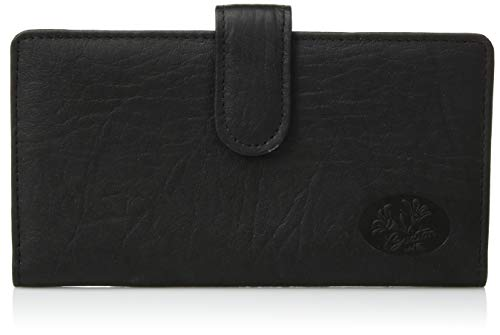 Buxton Heiress Pik Me Up - Checkbook & Credit Card Holder Wallet, Black