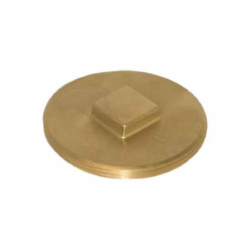 """Price comparison product image Ez-Flo 42043 4"""" Brass Clean-Out Plug"""