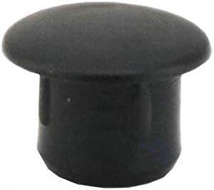 Lote de 20 tapones para agujero de 7 mm profundidad del orificio: 6 mm Wurth color negro cabeza: 10 mm tap/ón: cubre agujeros para muebles de 7 mm de pl/ástico