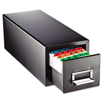 SteelMaster 263F4616SBLA Drawer Card Cabinet Holds 1,500 4 x 6 cards, 8 7/8 x 18 1/8 x - Card File Drawer 8