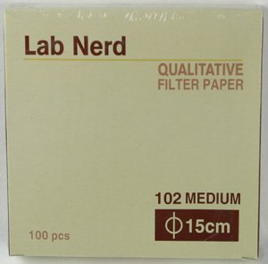 15 cm - 102 Qualitative Filter Paper by Lab Nerd