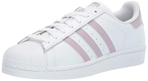 adidas Originals Women's Superstar Running Shoe, White/Soft Vision/Black, 7.5 M US