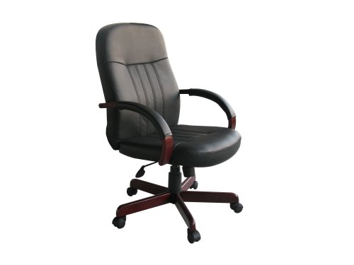 boss-office-products-b8376-m-leatherplus-executive-chair-with-mahogany-finish-in-black