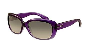 e1681f50fa Ray Ban RB4101 Jackie Ohh Sunglasses Purple Frame Crystal Brown ...