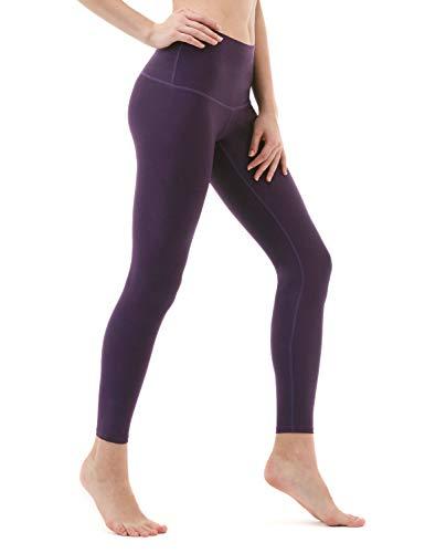 46498b1796 TSLA TM-FYP52-DVT_Small Yoga Pants High-Waist Tummy Control w Hidden Pocket