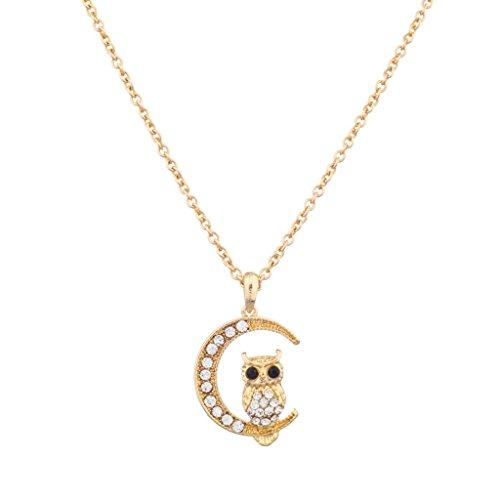Lux Accessories Quarter Pendant Necklace