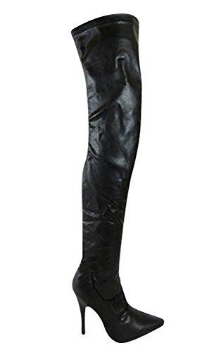 Haut Bottes Stretch Au Modles 8 Divers Talon Noir Taille 4 Cuisse 6 Sexy Matt Sko's Genou 7 5 Femmes qBnF800Y