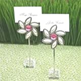 ''Love Blooms'' Flower Place Card Holders (set of 12)