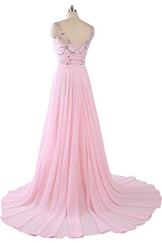 Toskana novia moderna Mujer piedras Corazón Forma noche de gasa. Para ropa largo 2607017324Fiesta en Ball Rosa