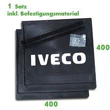 2 x garde-boue 400 x 400 mm / protection contre les projections pour remorque camion IVECO