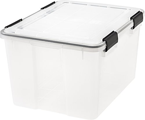 (IRIS 46 Quart WEATHERTIGHT Storage Box, Clear)