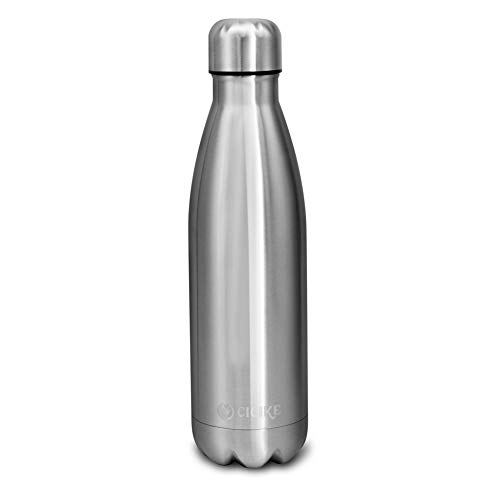 (cicike Stainless Steel Insulated Water Bottle for Women, Leak Proof and BPA Free, 17oz/500ml Drinking Double Walled Sport Water Bottle, Water Stay Cold 24 Hours and Hot 12)