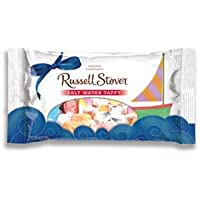 Russell Stover Sugar-Free Salt Water Taffy, 14 Ounce Laydown Bag, Assorted Taffy Candy Bag, Individually Wrapped Sugar-Free Taffy Candy Sweetened with Stevia