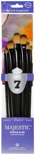 Majestic Royal and Langnickel Long Handle Paint Brush Set, F