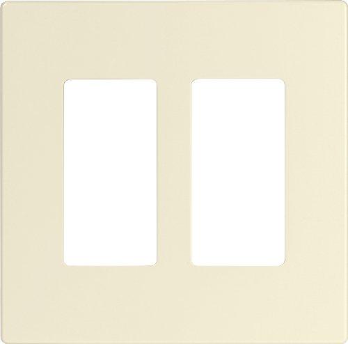 Eaton PJS262LA Decorator Screwless Wallplate, 2-Gang, Light Almond - Express 2 Almond