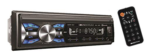 Soundstream MX-10BT Car Digital Media Player Stereo Receiver with Built-in Bluetooth Hands-Free Calling Music Streaming USB AUX SD Card Inputs RGB Multi-Color Illumination AM FM Radio Remote ()