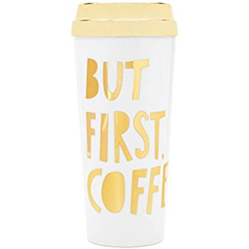 Ban.do HOT STUFF THERMAL MUG - BUT FIRST COFFEE - SPECIAL EDITION, METALLIC GOLD
