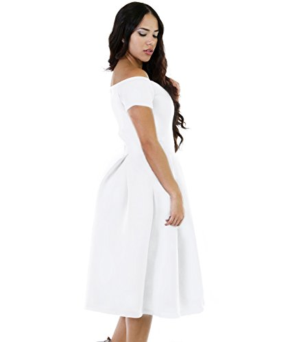 65aafb793f Lalagen Women s Vintage 1950s Party Cocktail Wedding Swing Midi ...
