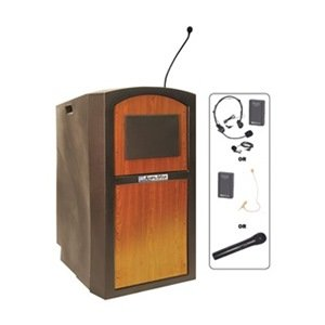 AmpliVox - SW3250-MO/S1605 - Lectern w/Sound, Med Oak, (S1605 Lectern)