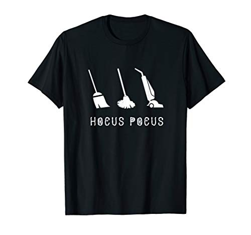 Hocus Pocus Broom Mop Vacuum - Halloween T-Shirt -