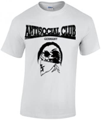 Antisocial Club - Camiseta - para hombre blanco X-Large: Amazon.es: Ropa y accesorios