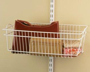 Beau ClosetMaid ShelfTrack Basket 2840