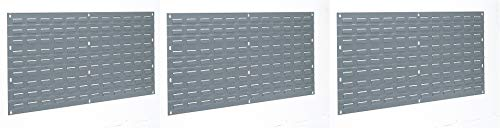 Akro-Mils 30136 Louvered Steel Panel for Mounting AkroBins, 36-Inch W by 19-Inch H, Grey (Pack of 3)
