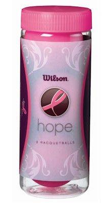 Wilson HOPE Racquetballs (3 Ball Can), Pink