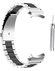 Tianbi Ersättningsremmar i metall kompatibla med Samsung Galaxy Watch4, 40/44mm Galaxy Watch 4 Classic 46mm/42mm, rostfritt stål klockarmband ersättningsarmband rem armband