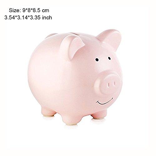Piggy Bank, Mini & Small Cute Ceramic Coin Money Piggy Bank, Makes a Perfect Unique Gift, Nursery Décor, Keepsake, or Savings Piggy Bank for Kids, Pink - Airplane Piggy Bank For Boys