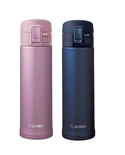 Zojirushi Stainless Steel Mugs, Smoky Blue & Lavender Pink