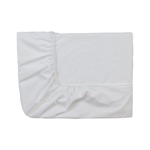 Essix Home Collection Spannbettlaken, Perkal-Baumwolle, 160x 220cm, Weiß