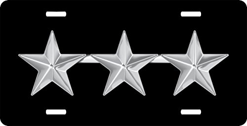 MilitaryBest Air Force Lieutenant General Officer Rank Insignia License Plate ()