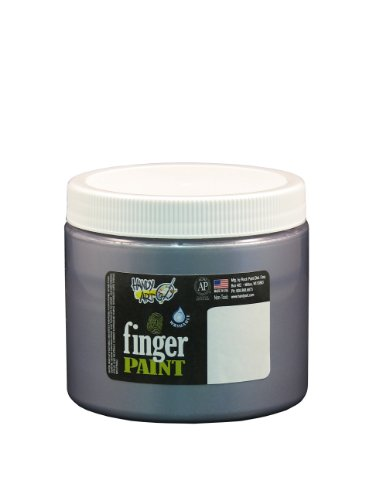 Handy Art by Rock Paint 241-166 Washable Finger Paint, 1, Silver, - 16 Washable Oz Paint Finger